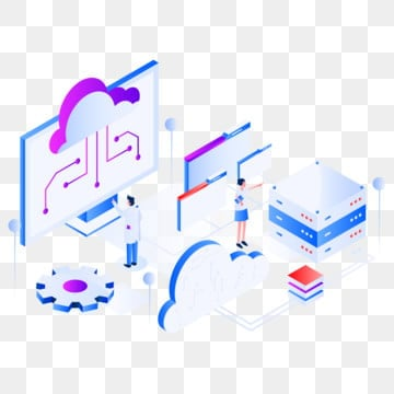 cloud computing isometric illustration concept  modern flat design concept of web page design for website and mobile website vector illustration eps 10, Data, Technology, Server PNG and Vector