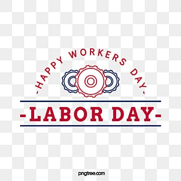 creative gear stars red blue american labor day art word Fonts