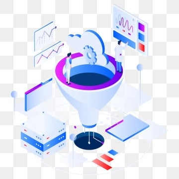 data filtering isometric illustration concept  modern flat design concept of web page design for website and mobile website vector illustration eps 10, Data, Vector, Isometric PNG and Vector