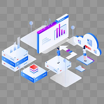 data statistics isometric illustration concept  modern flat design concept of web page design for website and mobile website vector illustration eps 10, Isometric, Chart, Web PNG and Vector
