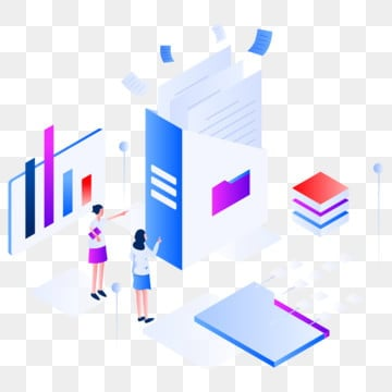 documents and data isometric illustration concept  modern flat design concept of web page design for website and mobile website vector illustration eps 10, Data, Vector, Document PNG and Vector