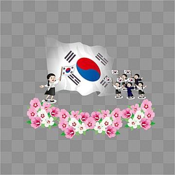 한국 독립을 선언 한 아이 만세, 한국 국기, 독립 기념일, 무궁화 PNG 및 벡터