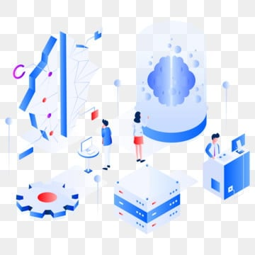 machine learning isometric illustration concept  modern flat design concept of web page design for website and mobile website vector illustration eps 10, Learning, Isometric, Concept PNG and Vector