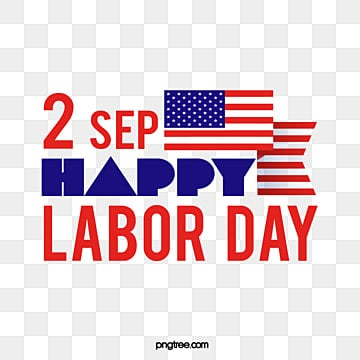 red and blue creative flag american labor day art word Fonts