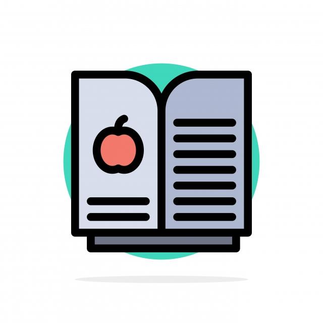كتاب التفاحة العلوم أزال دائرة الخلفية لون مسطح ايقونة