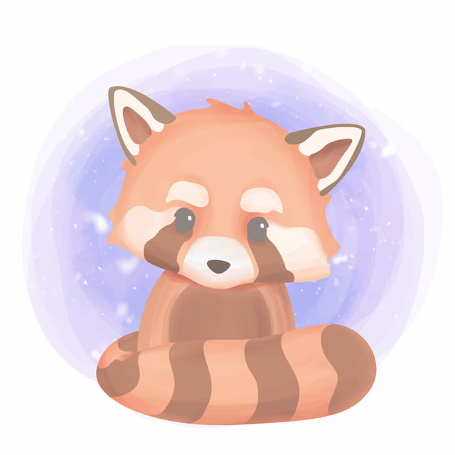 Cute Baby Animal Red Panda Adorable Animal Art Png And Vector With Transparent Background For Free Download