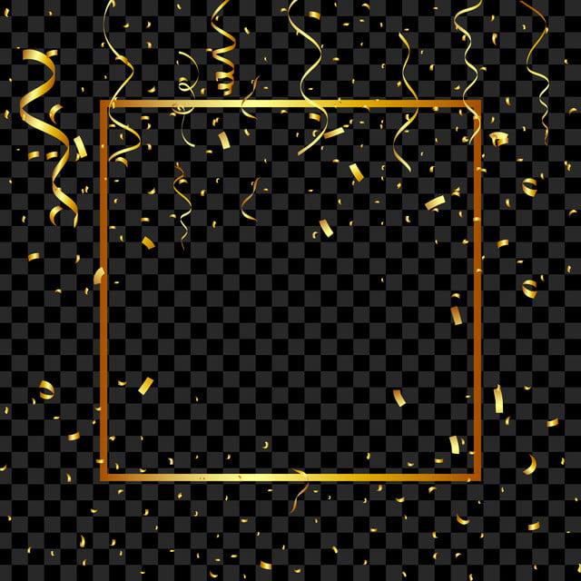 Falling Confetti Clipart Vector And Illustration, Birthday