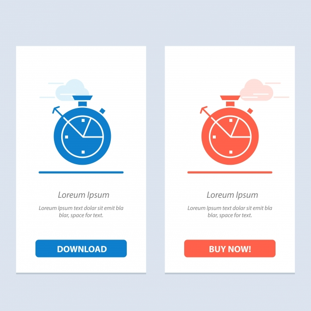 Measure Time Clock Data Science Blue And Red Download And Bu