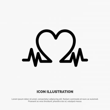 pngtree heartbeat love heart wedding line icon vector png image 1649162
