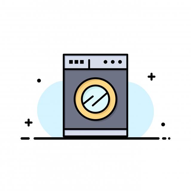 Plantilla De Logotipo De Empresa De Lavadora De Cocina Color Plano
