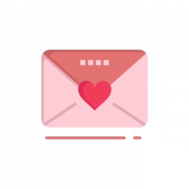 Sms Amour Mariage Coeur Couleur Plate Icône Vecteur Icône