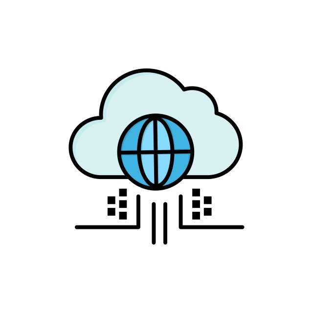 Internet Think Cloud Technology Flat Color Icon Vector ...