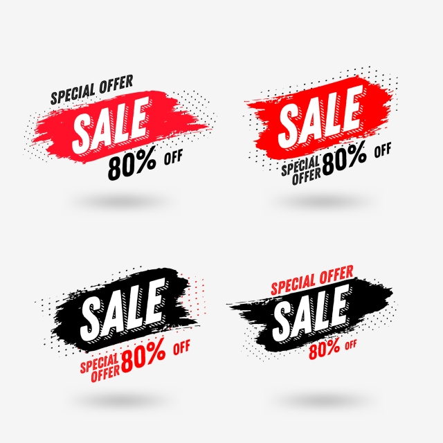 Abstract Brush Sales Banner Graphic Design Template, Background