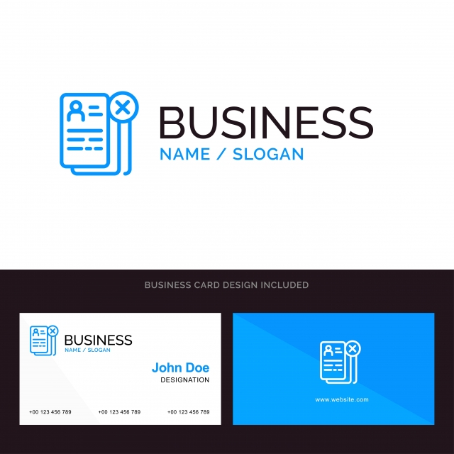 Business Career Cv Job Resume Blue Business Logo And Busines