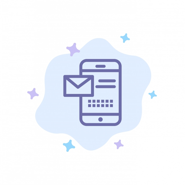 Mobile Message Sms Chat Receiving Sms Blue Icon On Abstract Icons Converter Icons Fitness Icons Maker Png And Vector With Transparent Background For Free Download