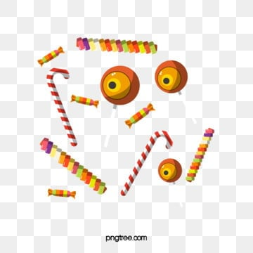 cartoon hand drawn halloween candy, Spun Sugar, Soft Candy, Eye PNG and Vector