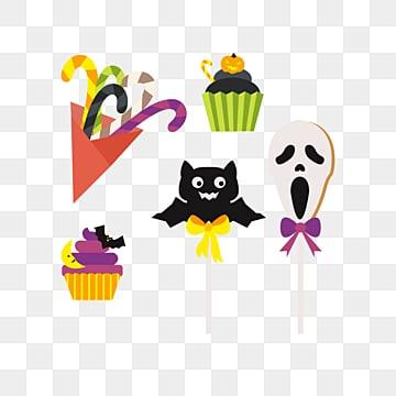 cute cartoon halloween candy dessert, Halloween, Candy, Bat PNG and Vector
