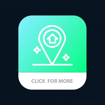 map navigation house mobile app button  android and ios line v, App, Arrow, Background PNG and Vector
