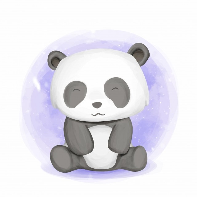 Baby Animal Cute Panda Smile Adorable Animal Art Png And Vector With Transparent Background For Free Download