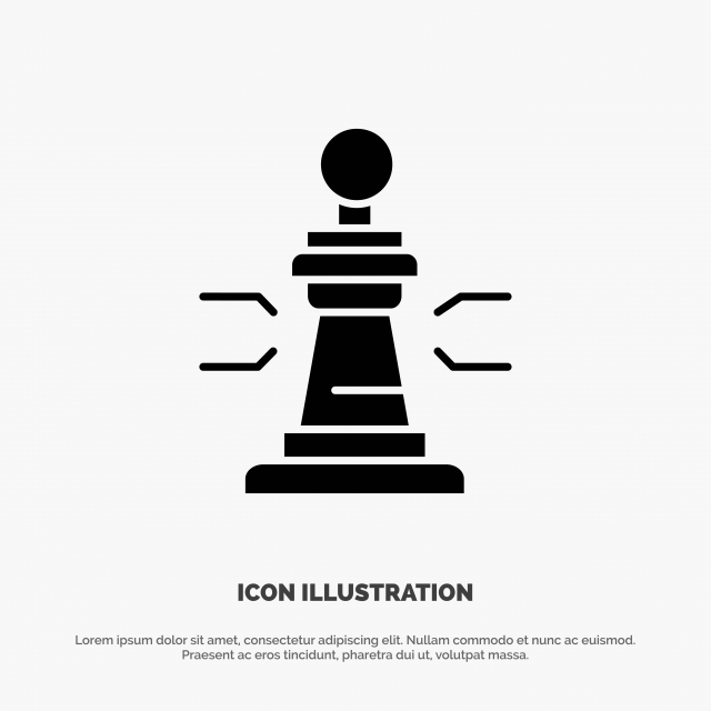 Chess Game Player King Poker Solid Glyph Icon Vector Background Bishop Black Png And Vector With Transparent Background For Free Download