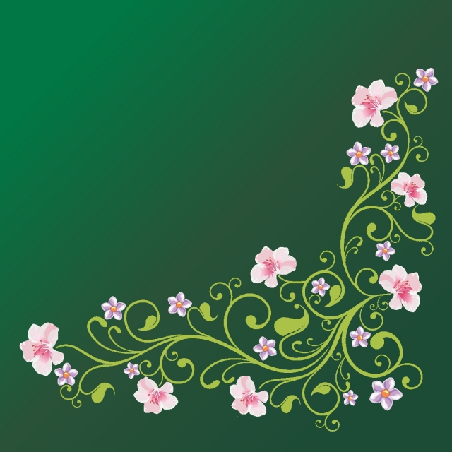 View Wedding Corner Floral Vector