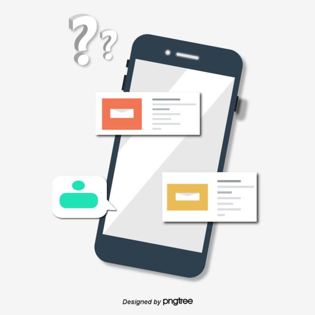 Mobile Phone Dialog Micro Stereo Illustration, Mobile Phone