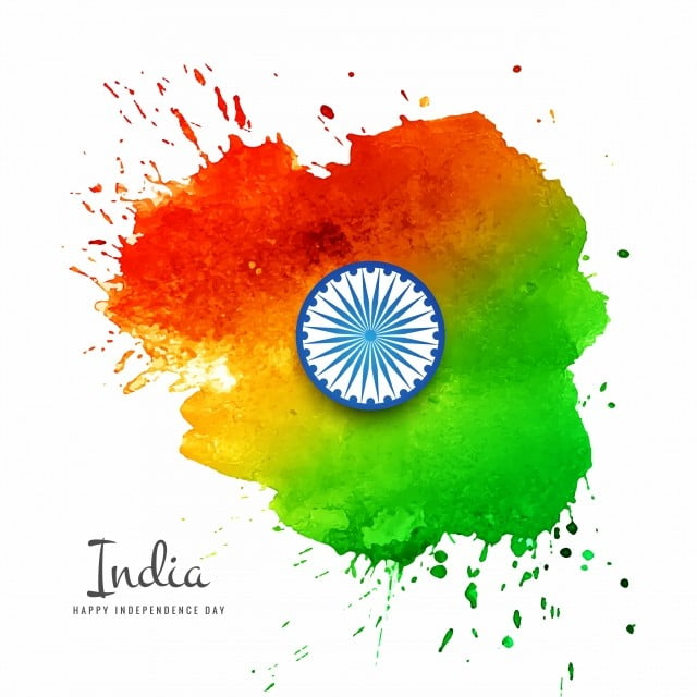 Watercolor Background Indian Flag For Indian Independence