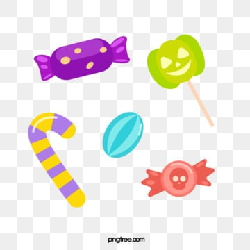 cartoon colorful halloween candy, Halloween, Candy, Lollipop PNG and Vector