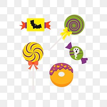 cartoon cute halloween candy, Halloween, Candy, Bat PNG and Vector