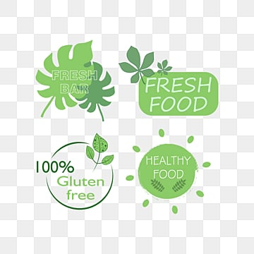 green fresh cute farm label, Green, Food, Soft Pale PNG and Vector