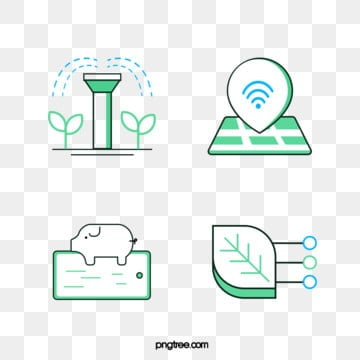 intelligent farming management icon, Green, Agriculture, Farm PNG and Vector