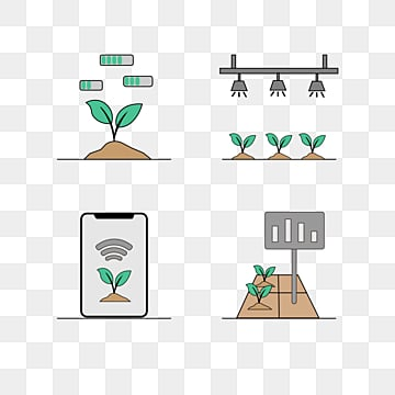linear smart farm icon element, Smart Farm, Flat Style, Agriculture PNG and Vector