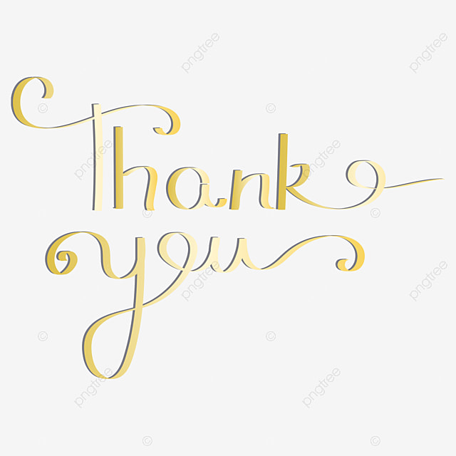 hand drawn font thank you gold wedding collection Art Font For Free