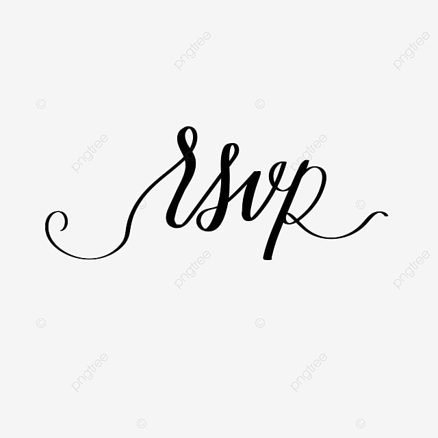 rsvp vector font hand drawn invitation card Art Font For Free Download
