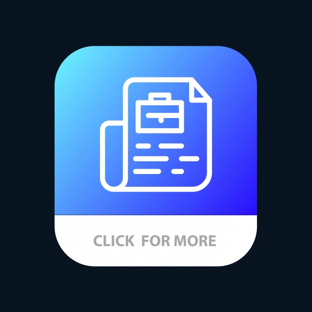 Document Job File Bag Mobile App Button Android And Ios Line