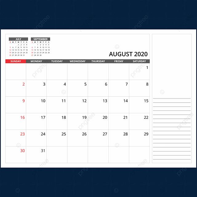 Calendario Agosto 2020 Para Imprimir Gratis.Calendario Mensual De Escritorio De Agosto De 2020 2020