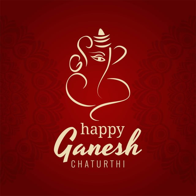 Beautiful Card Ganesh Chaturthi Festival Background Ganesh