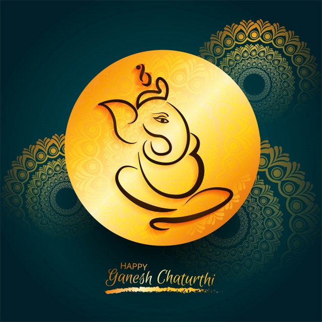 Beautiful Card Ganesh Chaturthi Lord Ganesha Festival