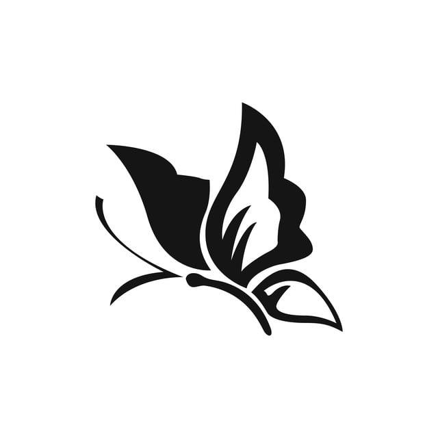 Desenho De Vetor De Tatuagem Tribal De Borboleta Design A