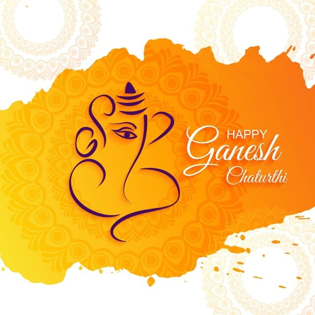 Creative Card Poster Or Banner For Festival Of Ganesh