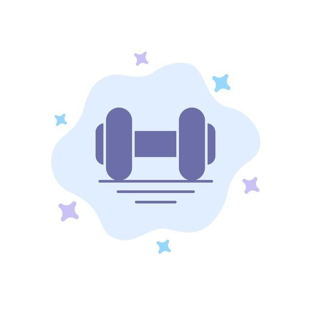Haltere Fitness Academia De Ginastica Levante O Icone Azul Na