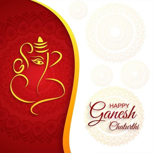 Festival Of Ganesh Chaturthi Card Celebration Background