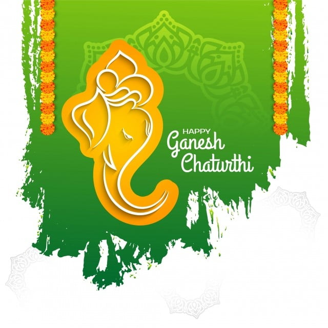 Ganesh Chaturthi Green Background Ganesh Chaturthi Abstract Png And Vector With Transparent Background For Free Download