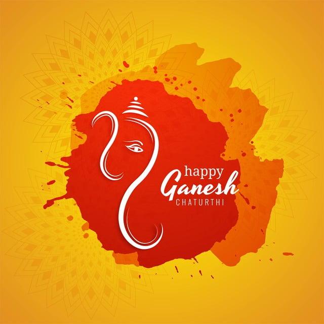 Happy Ganesh Chaturthi Festival Celebration Background