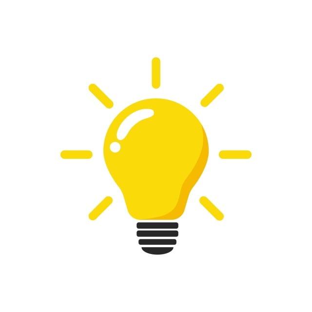 Light Bulb Icon Vector Light Bulb Ideas Symbol Illustration