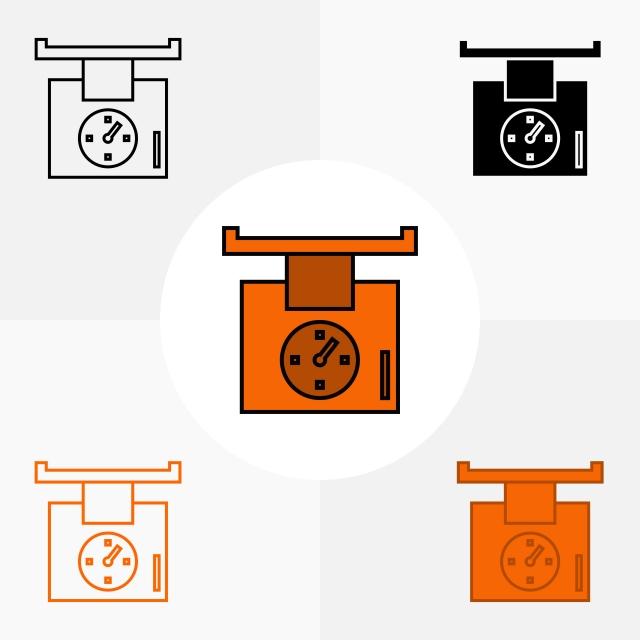 Echelle Icone Vector Design Pour Jeu D Icones De Meubles Et