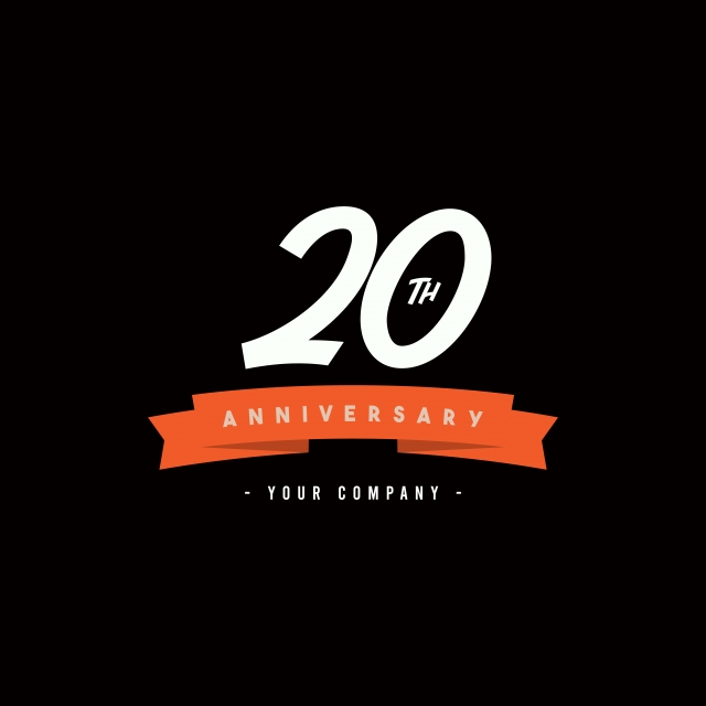 20 Years Anniversary Celebration Your Company Vector Template Design Illustration Company Icons Template Icons Celebration Icons Png And Vector With Transparent Background For Free Download