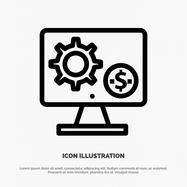 Generator, Monitor, Screen, Setting PNG and Vector with