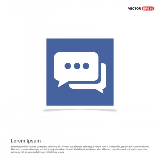 Speech Bubble Icon Blue Photo Frame, App, Application