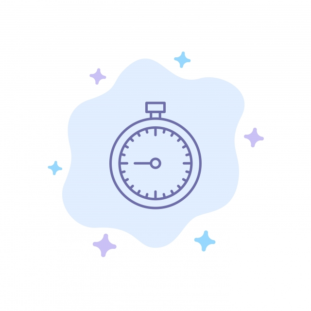Stopwatch Clock Fast Quick Time Timer Watch Blue Icon On A